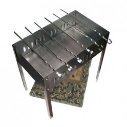Мангал 500х300х500 мм, сборный, + 6 шампуров в картонной коробке /5 61237 BOYSCOUT