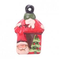 Сувенир новогодний 6х5х11см светящийся, Дед Мороз и елка 16735