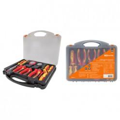 Набор диэлектр.инструм.№2,пласт. чемодан, 11 предметов,  1000В, ЭкспертЭлектрик TDM SQ1017-0102