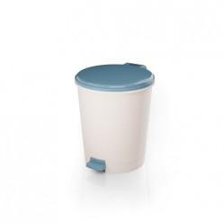 Ведро для мусора с педалью 12л (голубой) (уп.2) М7991