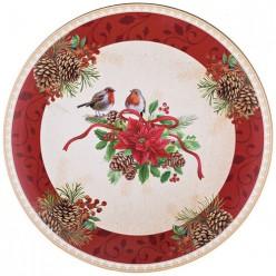 Поднос коллекция Рождественская сказка диаметр=40 см 106-529