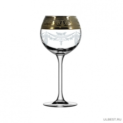 GE09-1689/S Набор - Бокалы для вина 6 шт с узором Русский узор