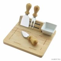 Набор для сыра 6пр. FORMAGGIO (доска с магн.держ,2 ножа д/сыра,сырная вилка,тарелка) 93-FG-S-14