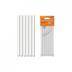 Клеевые стержни универс.белые, 11 мм x 100 мм, 6 шт, Алмаз TDM (SQ1024-0511)