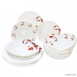 Сервиз столовый Природа в лицах 19 предметов в подарочной упаковке арт.MFK08327