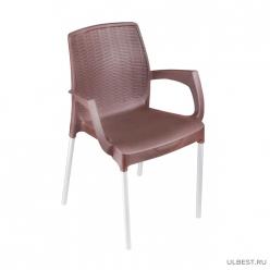 Кресло Прованс (коричневый) (уп.3) М6365