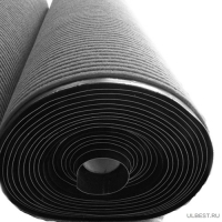 Коврик влаговпитывающий на резиновой основе Черри (1,2х15м) черный РТИ