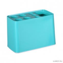 Подставка для зубных щеток Дебют (бирюзовый) (уп.20) М6078