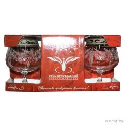 GE09-1812  Набор 6 бокалов Эдем для бренди с рисунком Русский узор