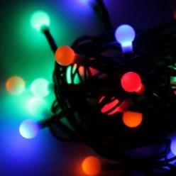 Гирлянда КОСМОС 30LED BALL_RGB (шарики, мультиколор 1 см, 4,5м, 8 режимов мигания)