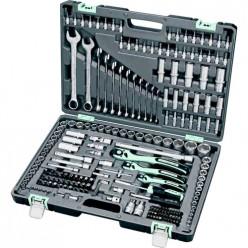 Набор инструмента, 1/4, 3/8, 1/2, Cr-V, S2, усиленный кейс, 216 предм.// STELS арт.14115