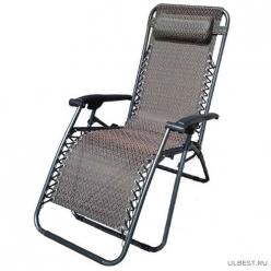 Кресло-шезлонг складное CHO-137-13 Люкс черное арт.993071