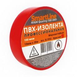 Изоляционная лента ПВХ 15мм*20м 150мкм красная Smartline инд.уп. арт.SL1532 /200/5