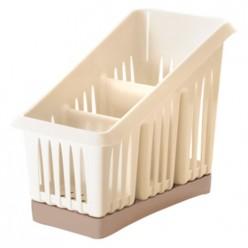 Сушилка для столовых приборов 3х-секционная Bono сливочный крем/капучино GR1564