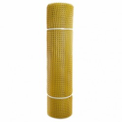 Садовая сетка квадратная 15х15 (1,0х20) ПРОФИ желтый