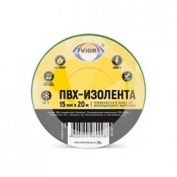 Изолента 15мм*20м желто-зеленая AVIORA 305-059