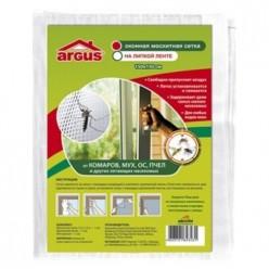 Антимоскитная сетка на окно 150*80см с крепежной лентой/100 ARGUS GARDEN AR-800