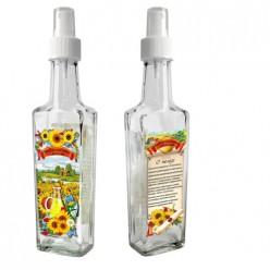 Бутылка с кнопочным распылителем для подсолнечного масла, 250 мл, стекло 626577
