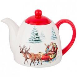 Чайник заварочный коллекция Новогодняя сказка 900 мл 19,9*13*13,8 см 230-318