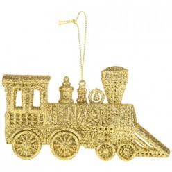 Декоративная подвеска Паровозик коллекция red&gold6*12 см 858-156