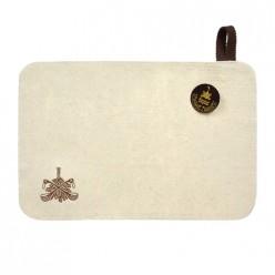 Коврик белый с вышитым логотипом Банные штучки/20 41416