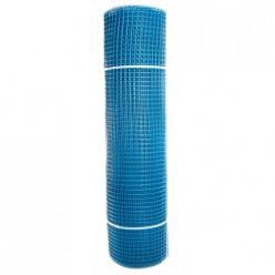 Садовая сетка квадратная 15х15 (1,0х20) ПРОФИ голубой