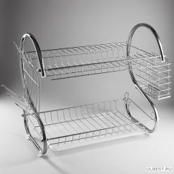 BE-7215 Сушилка для посуды двухуровневая WEBBER , 43х24х38,5 см (6)
