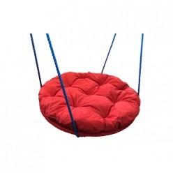 Качели детские Гнездо 800 мм с подушкой (красная, синяя)