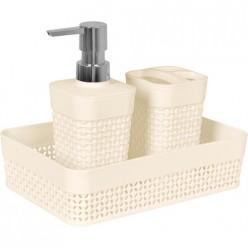 Набор для ванной комнаты Осло Mini 3 предмета молочный РТ1338