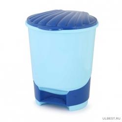 Ведро для мусора 18л (с педалью)(голубой) (уп.2) М7995
