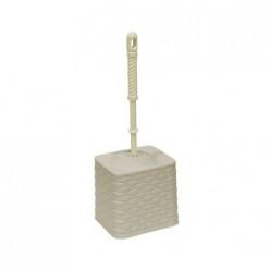 Набор для WC (ерш+подставка) квадратный с декором Ротанг (латте) 131520 Виолет