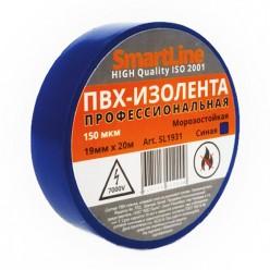 Изоляционная лента ПВХ 15мм*20м 150мкм синяя Smartline инд.уп. арт.SL1531 /200/5
