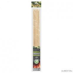 Шампуры бамбуковые 40x0,6x0,6 см, КВАДРАТНЫЕ, 6 штук в ПВХ упаковке /175/25 61066  BOYSCO