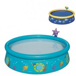 Бассейн с надувным бортом детский с брызгалкой 152*38 см, 477 л, Bestway 57326 арт.004862