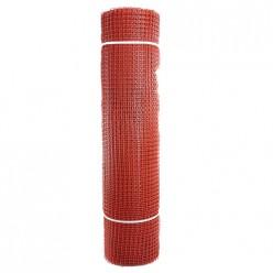 Садовая сетка квадратная 15х15 (1,0х20) ПРОФИ красный