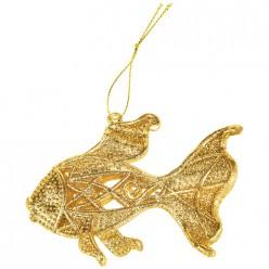 Декоративная подвеска Рыбка коллекция red&gold11*7 см мал.уп=80 шт 858-161