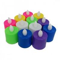 Свеча светодиодная Оплавленная (имитация огня), цветные, 4 см арт.RA-8320