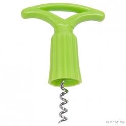 Штопор FRESCO с пластиковой ручкой/с насадкой на бутылку арт.008511