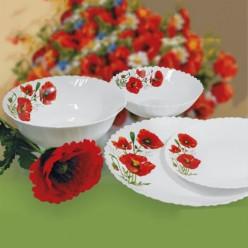 Сервиз столовый Маки 19 предметов в подарочной упаковке арт.MFK08312