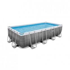 Бассейн прямоугольный с набором 549*274*122 см Power Steel Bestway 56998 арт.008907