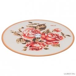 Тортовница вращающаяся Корейская роза диаметр=32 см высота=3 см 357-128