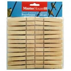 Набор прищепок деревянных Воробушки 24 шт (60306) Мастер Хаус