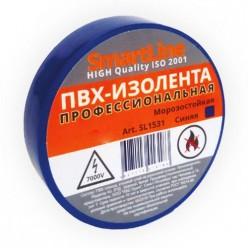 Изоляционная лента ПВХ 19мм*20м 150мкм синяя Smartline инд.уп. арт.SL1931 /200/5