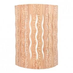 Абажур для светильника, угловой, липа, с орнаментом Цветы, 31х9х22 см Банные штучки/ 3 33420