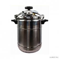 Автоклав-стерилизатор Охотник-рыболов, 14л,нерж. манометр, термометр клапан сброса изб. давления