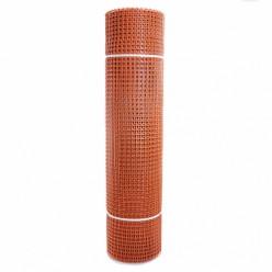 Садовая сетка квадратная 15х15 (1,0х20) ПРОФИ оранжевый
