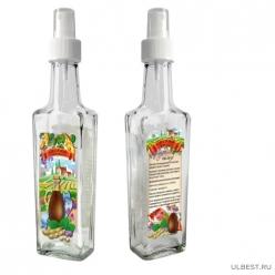 Бутылочка с кнопочным распылителем для соевого соуса, 250 мл, стекло 626580