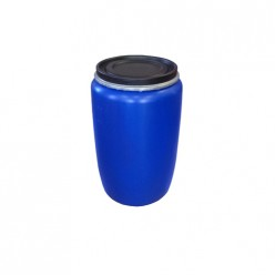 Бочка пластиковая с крышкой 127л синяя г. Москва