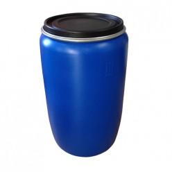 Бочка пластиковая (евробарабан) с крышкой 227л синяя г. Москва