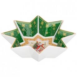 Блюдо-звезда lefard С новым годом! дед мороз 17х4 см зеленое 85-1625